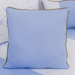 Almofada Lisa Elegance Coroa Azul 43cm