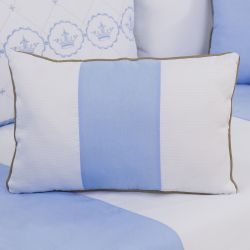 Almofada Retangular Elegance Coroa Azul 43cm