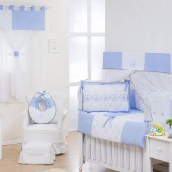 Quarto Econômico de Bebê sem Cama Babá Elegance Coroa Azul