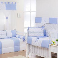 Quarto Econômico de Bebê Elegance Coroa Azul