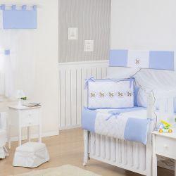 Quarto Econômico de Bebê sem Cama Babá Elegance Cavalinho de Balanço Azul