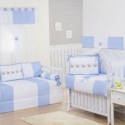 Quarto Econômico de Bebê Elegance Cavalinho de Balanço Azul