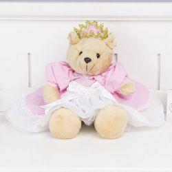 Ursa Princesa Loren Rosa 44cm