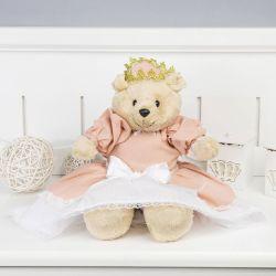 Ursa Princesa Loren Salmão 44cm