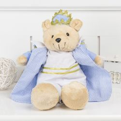 Urso Príncipe Lorenzo Azul 45cm