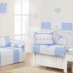 Quarto Econômico de Bebê Elegance Teddy Azul