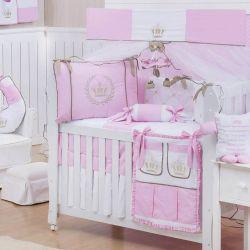 Quarto Econômico de Bebê Realeza Luxo Rosa