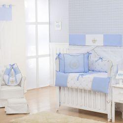 Quarto Econômico de Bebê sem Cama Babá Realeza Luxo Azul
