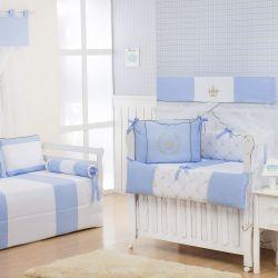 Quarto Econômico de Bebê Realeza Luxo Azul