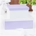 Conjunto de Caixas Organizadoras de Madeira Lilás e Branco