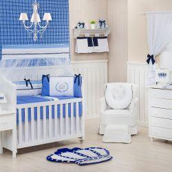 Quarto para Bebê sem Cama Babá Prince Real Azul