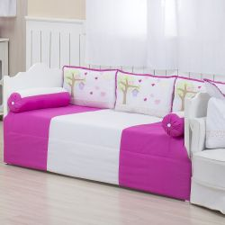 Kit Cama Babá Casinha dos Pássaros Pink