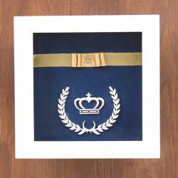Quadro Nicho Decorativo Coroa Real Marinho