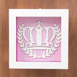 Quadro Nicho Decorativo Princess Rosa