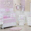 Quarto para Bebê sem Cama Babá Borboleta Rosa