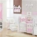 Quarto para Bebê sem Cama Babá Imperial Rosa Floral