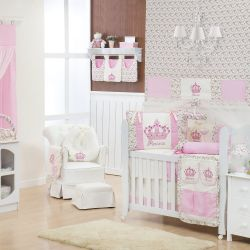 Quarto de Bebê Imperial Rosa Floral