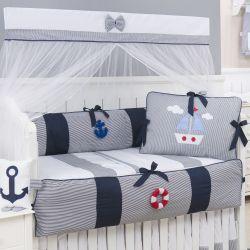 Kit Berço Marítimo Marinho