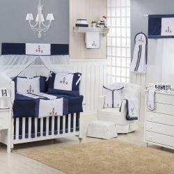 Quarto para Bebê sem Cama Babá Luxo Marítimo