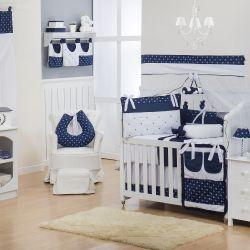 Quarto para Bebê sem Cama Babá Realeza Coroa Marinho