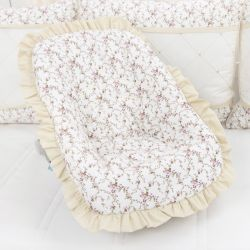 Capa de Bebê Conforto Carinha de Anjo Cáqui