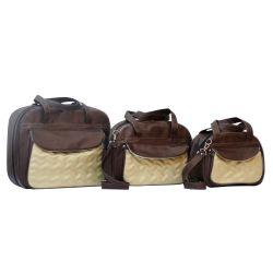 Conjunto de Bolsas Maternidade Chevron Café
