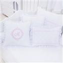 Almofadas Decorativas Marselle Rosa com Inicial do Nome Personalizada
