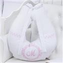 Almofada para Amamentação Marselle Rosa com Inicial do Nome Personalizada