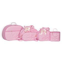 Conjunto de Bolsas Maternidade Pérola Rosa