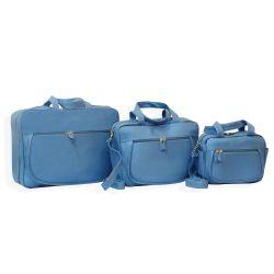 Conjunto de Bolsas Maternidade Basic Azul Mar
