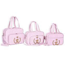 Conjunto de Bolsas Maternidade Light Rosa
