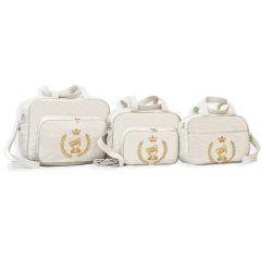 Conjunto de Bolsas Maternidade Light Marfim