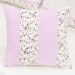 Almofada Decorativa Repartições Carinha de Anjo Rosa 40cm