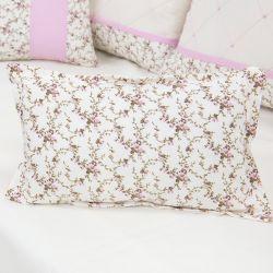 Almofada Decorativa Estampada Carinha de Anjo Rosa 42cm