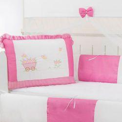 Kit Berço Jardim Pink