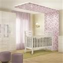 Quarto para Bebê Premium com Berço/Cômoda/Guarda Roupas de 4 Portas