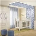 Quarto para Bebê Clean com Berço/Cômoda/Guarda Roupas de 4 Portas
