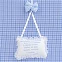 Enfeite Oração Santo Anjo Cavalinho Azul