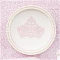 Quadro Decorativo Realeza Rosê com Pérolas