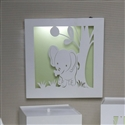 Quadro Led Savannah Verde Elefante