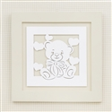 Quadro Decorativo Love Baby Palha