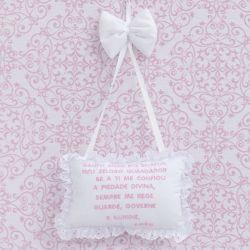 Porta Maternidade Oração Santo Anjo Diamante Rosa