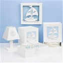 Kit Higiene com Quadro Led Baby Boy Navy Azul