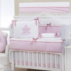 Quarto Econômico de Bebê sem Cama Babá Princess Rosê