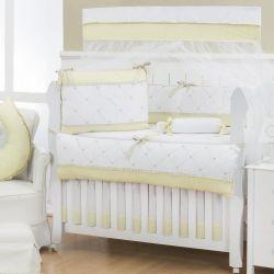 Quarto Econômico de Bebê sem Cama Babá Flor de Lys Amarelo