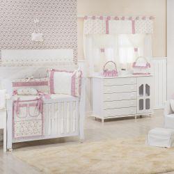 Quarto de Bebê Glamour Floral Rosê
