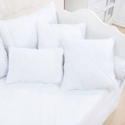 Almofadas Nervura Branco 3 Peças