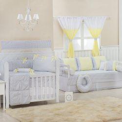 Quarto de Bebê Nova Iorque Chevron Amarelo