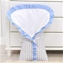 Porta Bebê Brooklin Chevron Azul