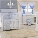Quarto para Bebê sem Cama Babá Brooklin Chevron Azul